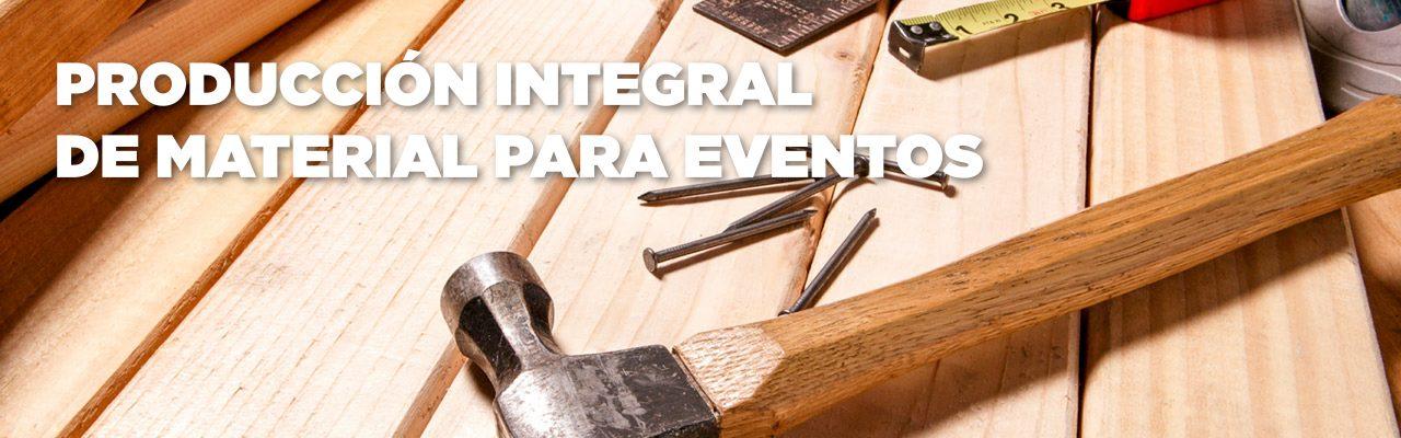 Materiales de carpintería para eventos